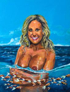 BRANDI LOVE'S PORTRAIT IN THE SEA by Pictor Mulier