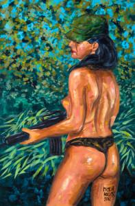 AMAZONE peinture de Pictor Mulier