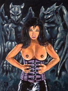 Retrato de Mistress Kawa pintado por Pictor Mulier
