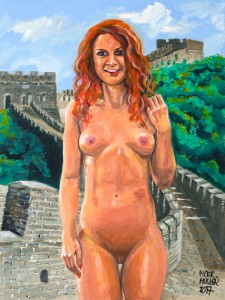 VIENNA WALKS AROUND NUDE FOR THE GREAT WALL OF CHINA by Pictor Mulier