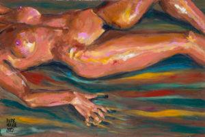 Éxtasis en la playa, pintura erótica de Pictor Mulier